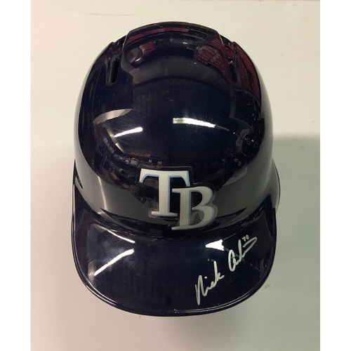 Photo of Team Issued Autographed Helmet: Nick Anderson