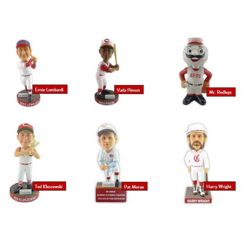 Photo of 6 Bobblehead Package with Tickets to the Reds Hall of Fame and Museum - *PICK-UP ONLY*