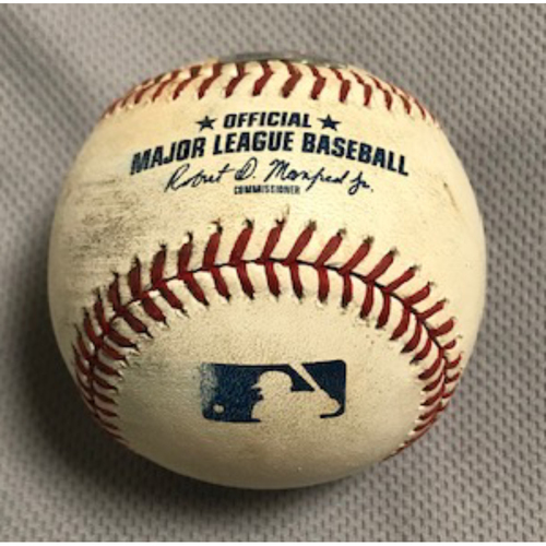 Photo of 8/1/20 Game-Used Baseball, Dodgers at D-backs: Julio Urías vs. Ketel Marte (Foul)