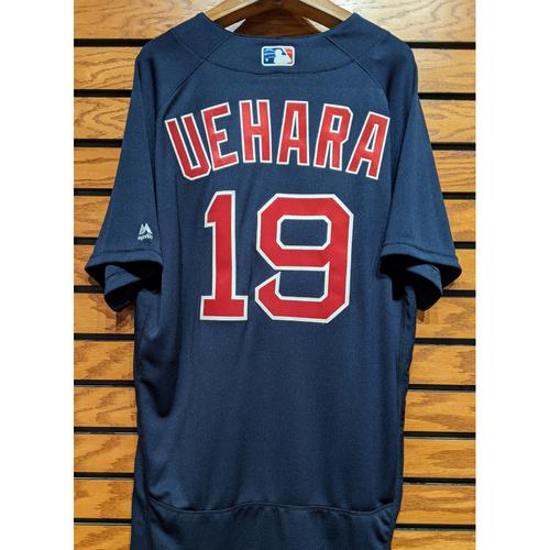 Photo of Koji Uehara #19 Team Issue Navy Road Alternate Jersey