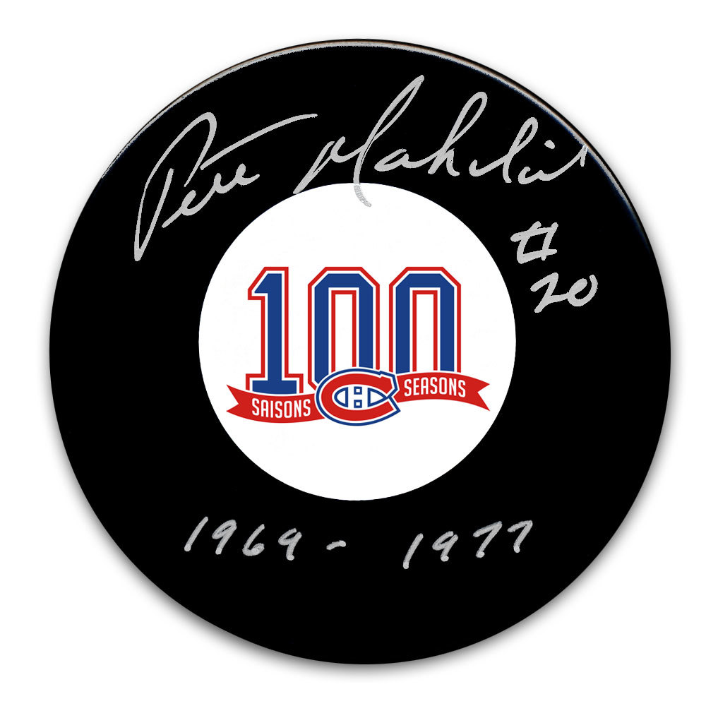 Pete Mahovlich Montreal Canadiens 100th Anniversary Autographed Puck