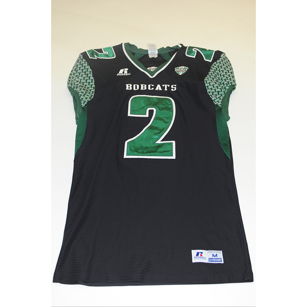 Photo of # 2 - Official OHIO BOBCATS Game Worn Football Jersey (2011) - SIZE MEDIUM