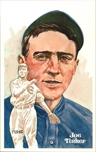 Photo of 1980-02 Perez-Steele Hall of Fame Postcards #47 Joe Tinker  -- HOF Class of 1946