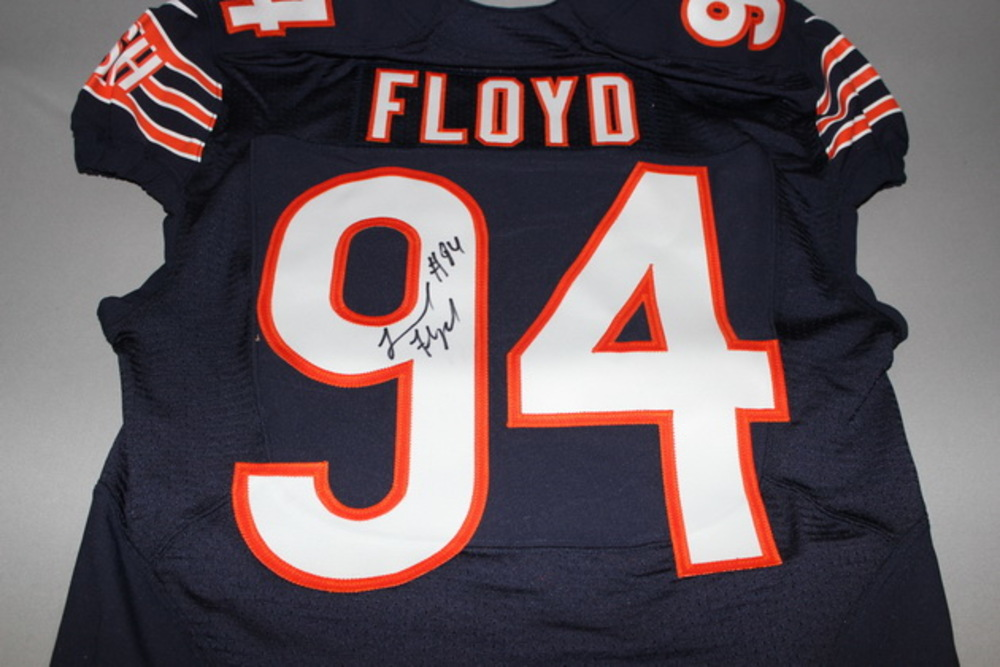 Issued Floyd Jersey Bears And Nfl Sts Game Signed 2016 - Auction Leonard