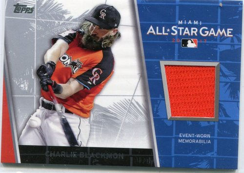 Photo of 2017 Topps Update All Star Stitches  Charlie Blackmon