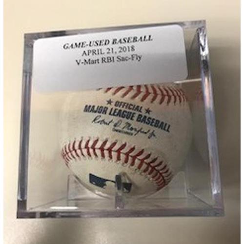 Photo of Game-Used Baseball: Victor Martinez RBI Sacrifice Fly