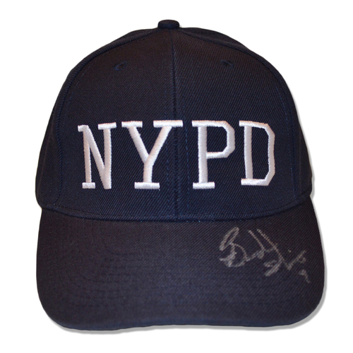 Photo of Brandon Nimmo #9 - Autographed Game Used Adjustable First Responder Hat - 9/11/18