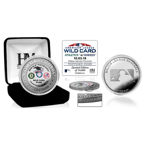 Photo of New York Yankees 2018 A.L. Wild Card Game Silver Victory Coin