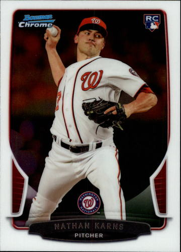 Photo of 2013 Bowman Chrome Draft #3 Nathan Karns RC