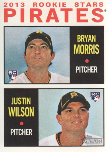 Photo of 2013 Topps Heritage #418 Bryan Morris RC/Justin Wilson RC