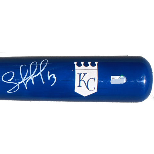 Photo of Autographed Blue Faded Bat: Salvador Perez