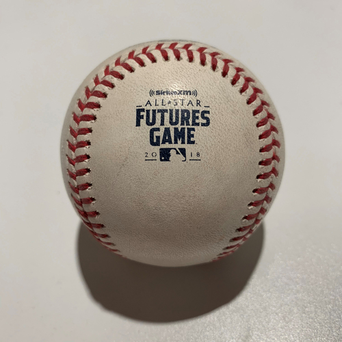 Photo of 2018 All-Star Futures Game - Game Used Baseball - Batter: Dawel Lugo Pitcher: Justus Sheffield - Foul