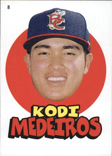 Photo of 2016 Topps Heritage Minors '67 Topps Stickers #8 Kodi Medeiros