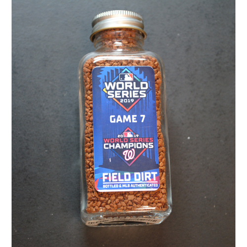 Photo of PRESALE: 2019 World Series Game-Used Dirt Jar - Game 7 - Minute Maid Park