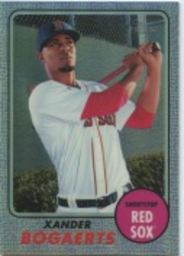 Photo of 2017 Topps Heritage Chrome Purple Refractors #THC441 Xander Bogaerts