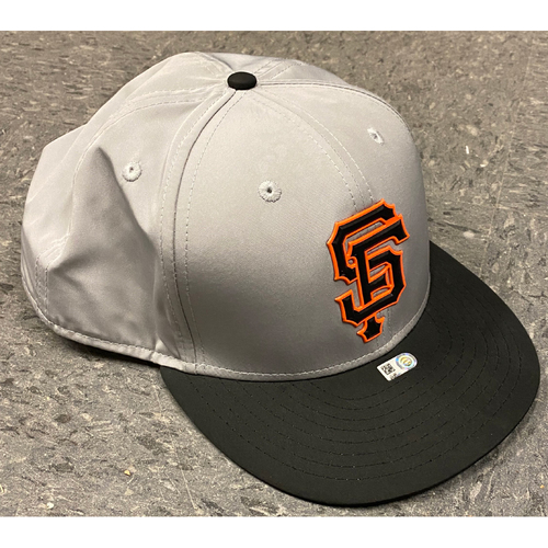 Photo of 2018 Team Issued Gray Batting Practice Cap - #15 Bruce Bochy - Size 8 1/8