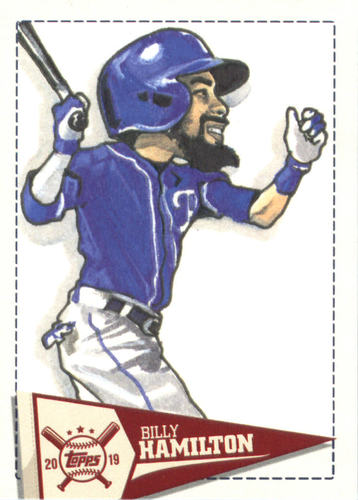 Photo of 2019 Topps Big League Star Caricature Reproductions #SCRBH Billy Hamilton