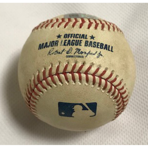 Photo of 9/8/20 Game-Used Baseball, Dodgers at D-backs: Stefan Crichton vs. Cody Bellinger (Struck Out Swinging, Bellinger Advanced to 1st on Wild Pitch)
