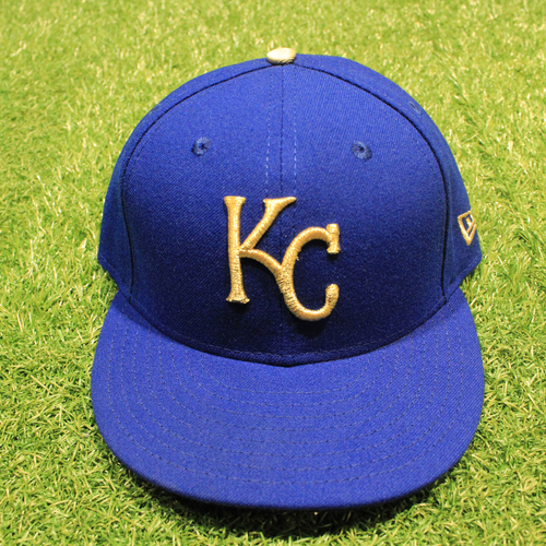 Game-Used 2020 Gold Hat: Scott Barlow #58 (Size 7 1/4 - DET @ KC 9/25/20)