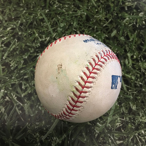 Photo of Game-Used Baseball MIN@MIL 04/03/21 - Corbin Burnes - Byron Buxton: Strike