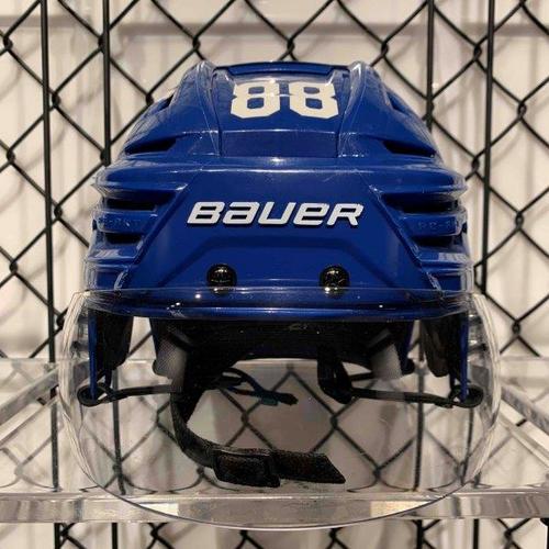 #88 William Nylander Worn Blue Bauer Helmet
