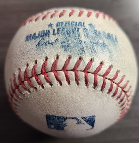 Photo of Authenticated Game Used Baseball: Strikeout by Robbie Ray against Jonathan Schoop (Aug 20, 2021 vs DET). Top 1.