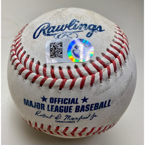 Photo of Game-Used Baseball: Jonathan Schoop Detroit Tigers Hit by Pitch (MLB AUTHENTICATED)