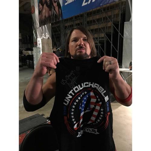 AJ Styles WORN & SIGNED