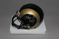 NFL - RAMS JOHNNY HEKKER AND JACOB MCQUAIDE SIGNED RAMS MINI HELMET