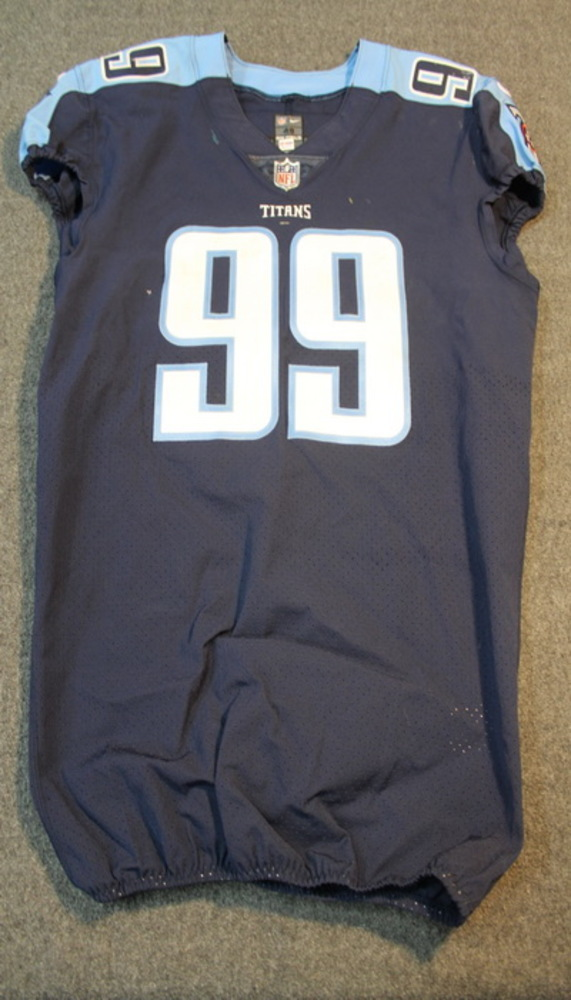CRUCIAL CATCH - TITANS JURRELL CASEY SIGNED AND GAME WORN TITANS JERSEY (OCTOBER 16, 2017) SIZE 48