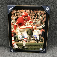 HOF - CHIEFS JAN STENERUD SIGNED 11X14 FRAMED PICTURE