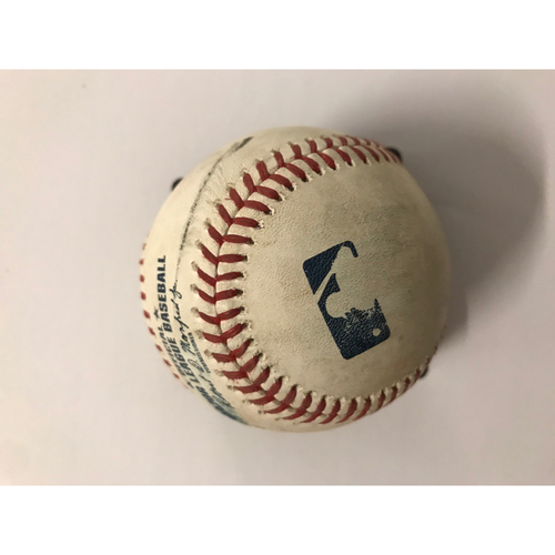 Photo of Freddie Freeman Game Used Hit Single Baseball - 7/11/2018