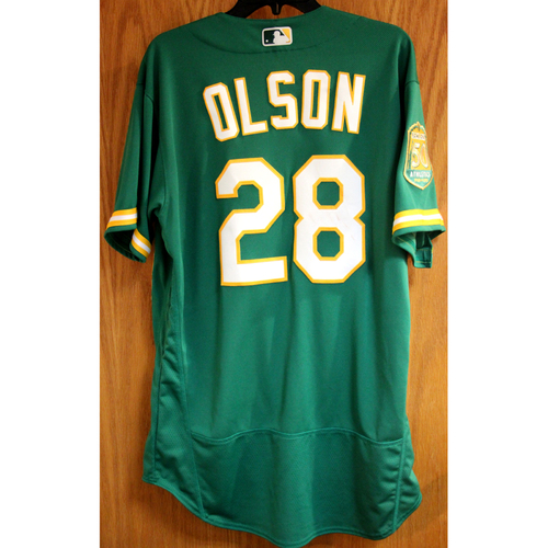 Photo of Matt Olson Game-Used Jersey - HR (4)