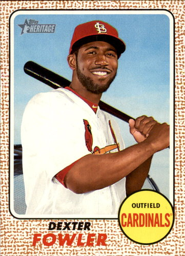 Photo of 2017 Topps Heritage #106 Dexter Fowler