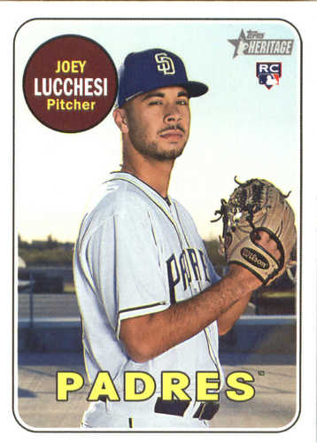 Photo of 2018 Topps Heritage #655 Joey Lucchesi RC