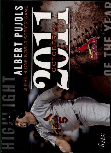 Photo of 2015 Topps Highlight of the Year #H89 Albert Pujols UPD