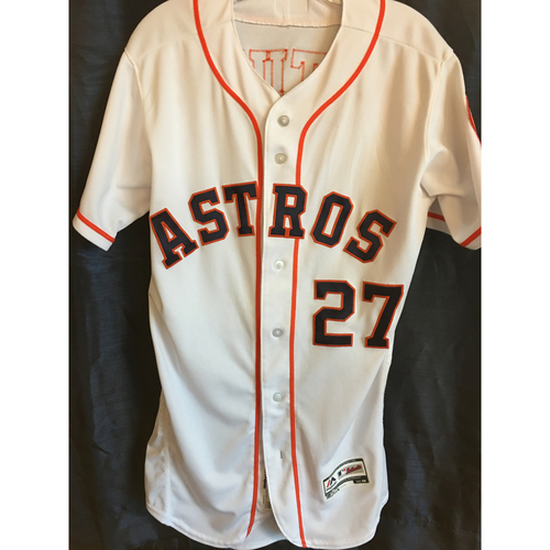 Photo of 2019 Jose Altuve Game Used Jersey (Size 40) - 4/10, 4/23, 4/24