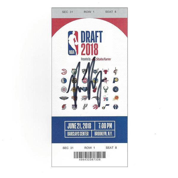 Image of Bruce Brown - Detroit Pistons - 2018 NBA Draft - Autographed Draft Ticket