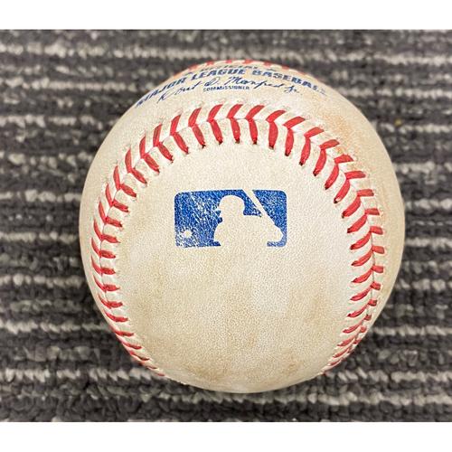 2019 Game Used Baseball - San Francisco Giants vs. Washington Nationals on 8/7 - T-6: Sam Coonrod to Yan Gomes - Single to LF