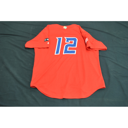 Photo of 2017 World Baseball Classic Batting Practice Jersey - Francisco Lindor - Puerto Rico (Size XL)