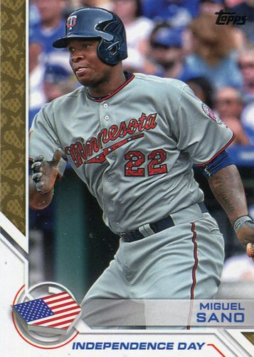 Photo of 2017 Topps Independence Day #ID13 Miguel Sano