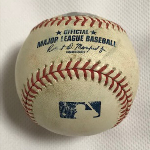2020 World Series Participant Enrique Hernández Game-Used Baseball, 8/2/20 Dodgers at D-backs: Hernández Singled off of Merrill Kelly
