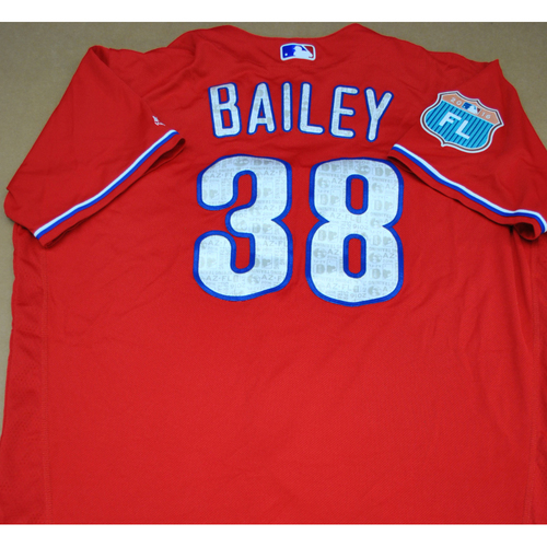 Photo of Game-Used 2016 Spring Training Jersey - Andrew Bailey - Size 50 - Philadelphia Phillies