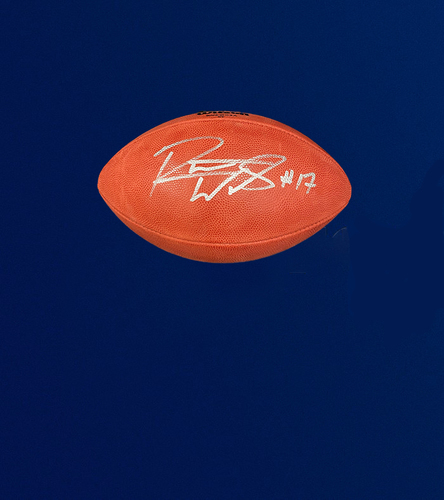 "Photo of Robert Woods Signed Authentic ""The Duke"" Football"
