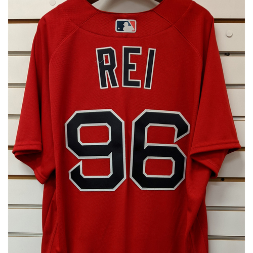 Photo of Austin Rei #96 Team Issued Nike Red Spring Training Jersey