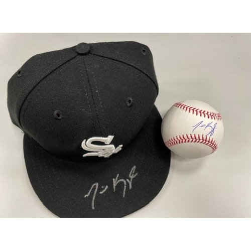 Photo of Michael Kopech Autographed Cap and Baseball - Cap Size 7
