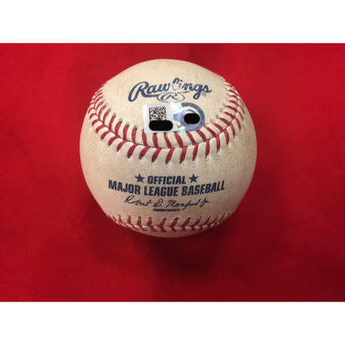 Javier Baez -- Home Run -- Player Collected Baseball from CHC vs. CIN on April 21, 2017