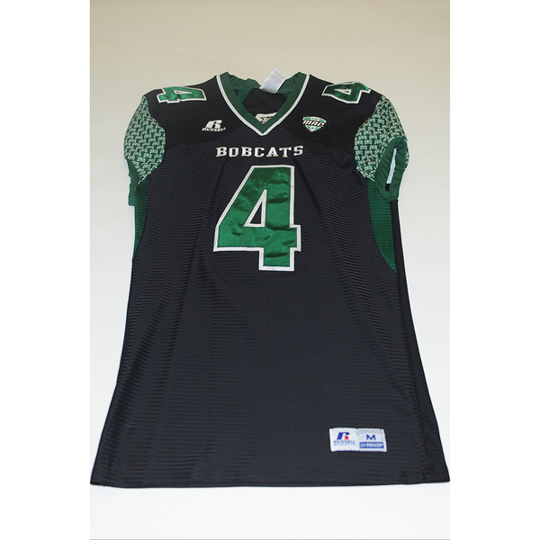 Photo of # 4 - Official OHIO BOBCATS Game Worn Football Jersey (2011) - SIZE MEDIUM