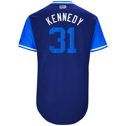 "Photo of Ian ""Kennedy"" Kennedy Kansas City Royals 2017 Game-Used Players Weekend Jersey"