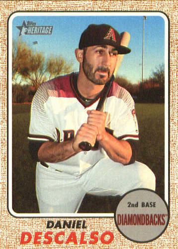 Photo of 2017 Topps Heritage #656 Daniel Descalso